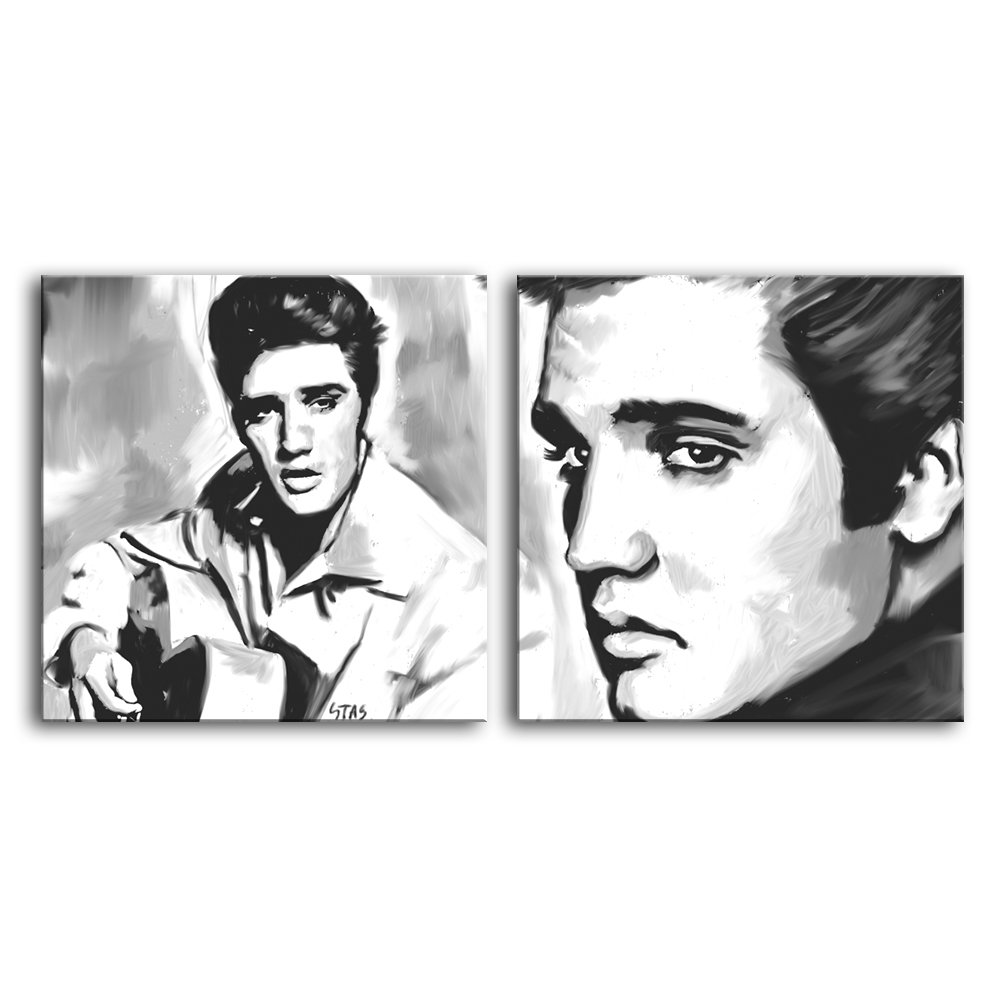 ELVIS-PRESLEY-cd-abstract-portrait-painting-CANVAS-ART-GICLEE-PRINT-C