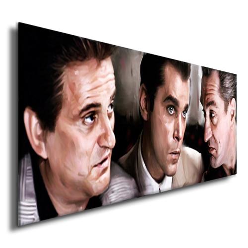 GOODFELLAS-Robert-De-Niro-Joe-Pesci-poster-painting-CANVAS-ART-GICLEE-PRINT-A
